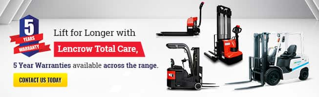 Lift for Longer with Lencrow Total Care, 5 Year Warranties available..
