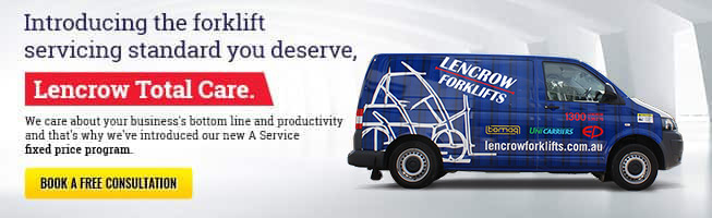 Introducing the forklift servicing standard you deserve, Lencrow Total