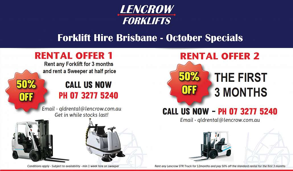 Forklift Hire Brisbane Specials