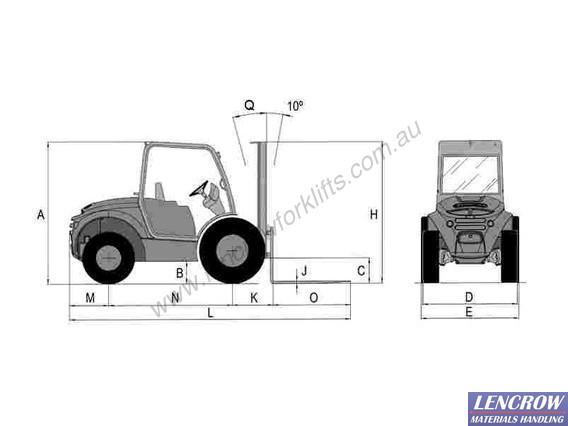 Ex Demo - 2500 kgs Ausa 4WD forklift