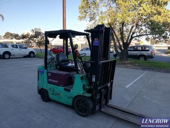 Used 2500 kgs LPG Mitsubishi Cushion Tyre Forklift