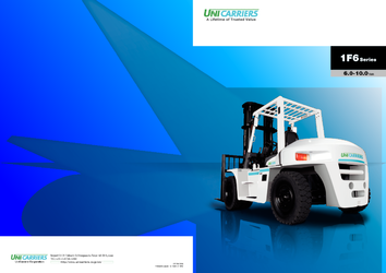 UniCarriers 1F6 Series Diesel Forklifts Catalogue