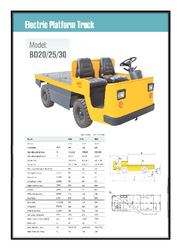 Electric Platform Truck Catalogue by Lencrow Materials Handling