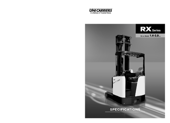 RX Series 1.4T - 2T - Sit down Reach Truck Spec Brochure