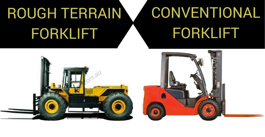 Rough Terrain & Conventional Forklifts Are Different – Selecting the Right Forklift for the Job Is Vital